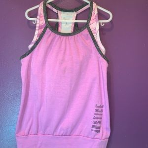 Girls justice sports tank top